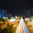 Modern city and traffic at night — Stock Photo #9028946