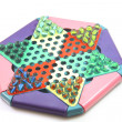 Chinese checkers game — Stock Photo