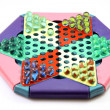 Stock Photo: Chinese checkers game