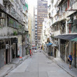 Old street and modern buildings in Hong Kong — Stock Photo #9029467
