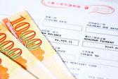 Hong Kong dollar with bill — Stock Photo