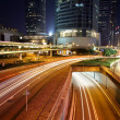 Traffic in modern city at night — Stock Photo #9031597