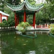 Chinese garden in Hong Kong - Stock Photo