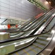 Moving escalator in blurred motion — Stock Photo