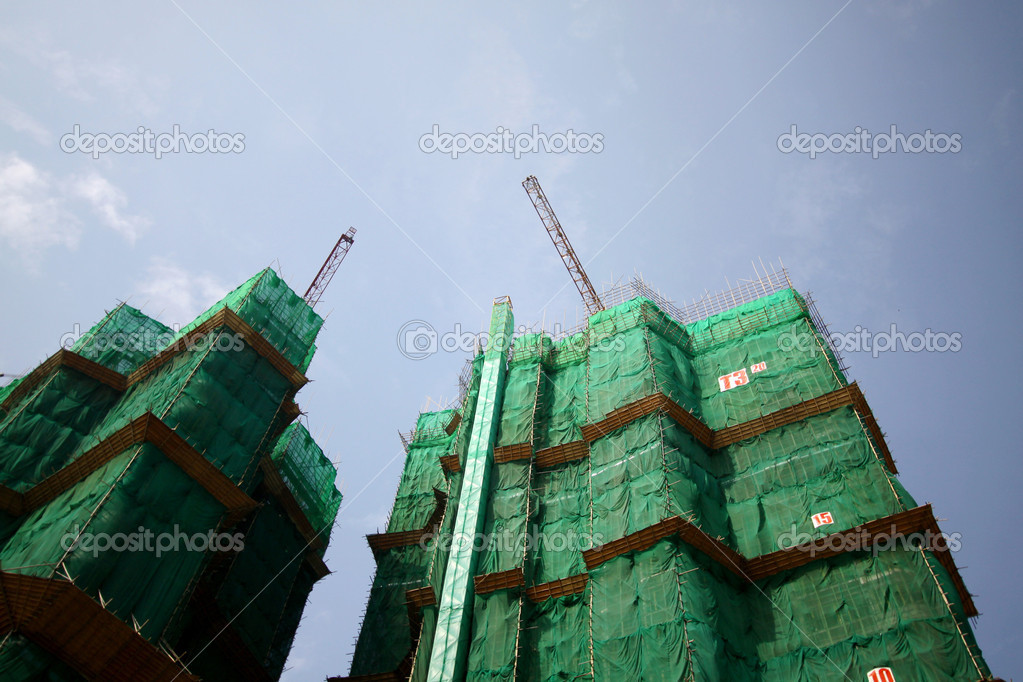 Construction site in Hong Kong — Stock Photo #9032655