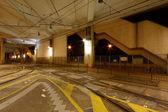 Light rail station at night — Stock Photo