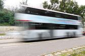 Bus in hongkong am tag verschieben — Stockfoto