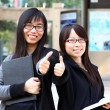 Asian woman with thumb up — Stock Photo #9072630