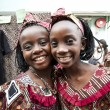 African children smiling happily — Stock Photo
