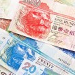 Royalty-Free Stock Photo: Hong Kong currency with different dollars background