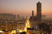 Hong Kong downtown at sunset — Stock Photo