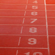 Running track lanes for athletes — Stock Photo