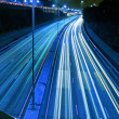 Traffic in highway of Hong Kong at night — Stock Photo