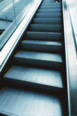 Moving escalator in subway station — Stock Photo