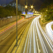 Traffic in Hong Kong at night — Stock Photo #9131447