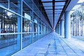 Corridor of a train station — Stock Photo