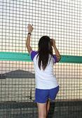 Mulher asiática quer escapar — Fotografia Stock