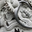Dragon carvings in China — Stock Photo