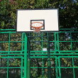 Basketball court net - Stock Photo