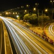 Highway traffic in Hong Kong at night — Stock Photo #9144142