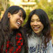 Asian woman showing their friendship forever concept — Stock Photo