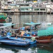 Lei Yu Mun view with many fishing boats in Hong Kong — Stock Photo