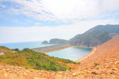 Seascape and coastal landscape in Hong Kong Geo Park — Stock Photo
