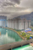 Tuen Mun downtown at day in Hong Kong, HDR image. — Stock Photo