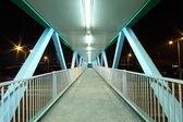 Footbridge at night — Stock Photo