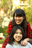 Asian university friends — Stock Photo