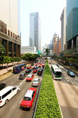 Busy highway traffic in Hong Kong — Stock Photo