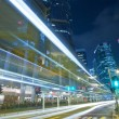 Modern city with busy traffic at night — Stock Photo #9243281