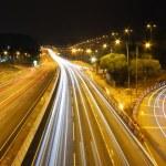 Highway traffic in Hong Kong at night — Stock Photo #9261676
