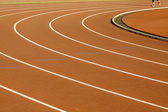 Running track in a curve shape — Stock Photo
