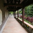 Stock Photo: Corridor in Chinese garden