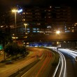 Traffic in Hong Kong at night — Stock Photo #9396262