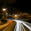 Traffic in Hong Kong at night — Stock Photo #9396264