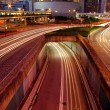 Traffic in Hong Kong at night — Stock Photo
