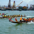 Dragon Boat Race, Hong Kong. - Stock Photo