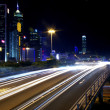 Stock Photo: Busy traffic in Hong Kong at night