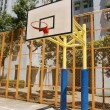 Basketball court in abstract view — Stock Photo #9396679