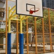 Basketball court in abstract view — Stock Photo #9396688