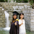 Asian girl graduation — Stock Photo