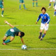 East Asian Games of football match - Macau vs Japan in Hong Kong - Stock Photo
