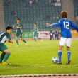East Asian Games of football match - Macau vs Japan in Hong Kong — Stock Photo