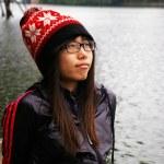 Asian woman thinking — Stock Photo #9397644