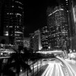 Traffic in Hong Kong at night — Stock Photo #9398495