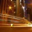 Traffic in Hong Kong at night — Stock Photo #9398765
