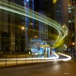 Traffic in Hong Kong at night — Stock Photo #9398773