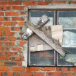 Vintage wall and window — Stock Photo